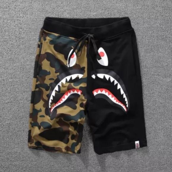 Bape Shark Camo Shorts dc5caa5b33